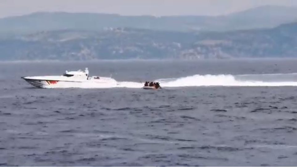 Βίντεο ντοκουμέντο: Τουρκικές ακταιωροί επιχείρησαν πάλι να στείλουν μετανάστες στη Μυτιλήνη