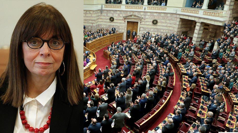 Η Κατερίνα Σακελλαροπούλου πρώτη γυναίκα Πρόεδρος της Δημοκρατίας με 261 ψήφους!
