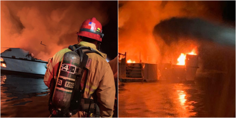 Καλιφόρνια: Σκάφος έπιασε φωτιά -Φόβοι για 34 νεκρούς! (φωτο)