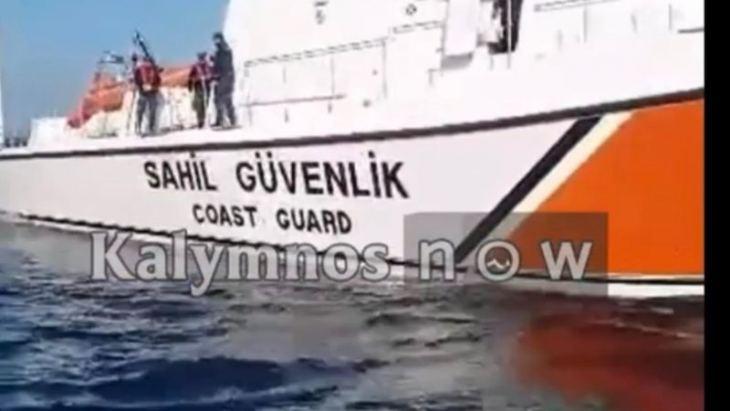 Τούρκοι λιμενικοί κλέβουν παραγάδι από Έλληνες ψαράδες κοντά στα ΙΜΙΑ! (ΒΙΝΤΕΟ)