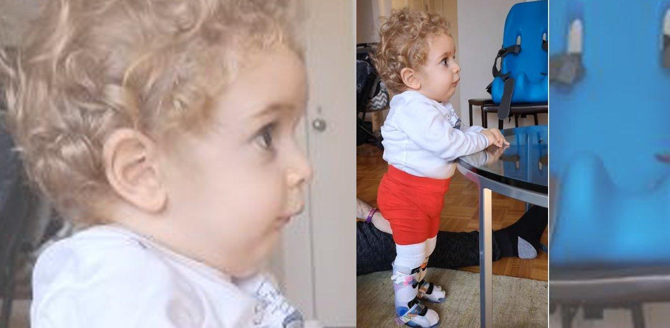 Παναγιώτης – Ραφαήλ: O μικρός ήρωας στάθηκε για πρώτη φορά στα πόδια του! (βιντεο)