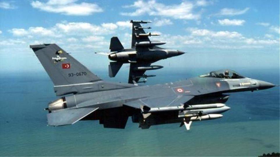 Υπερπτήσεις κατά κύματα τουρκικών F-16: Πέταξαν στα 7.000 πόδια πάνω από Παναγιά και Οινούσσες!