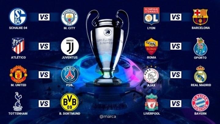 Το πρόγραμμα των «16» του Champions League