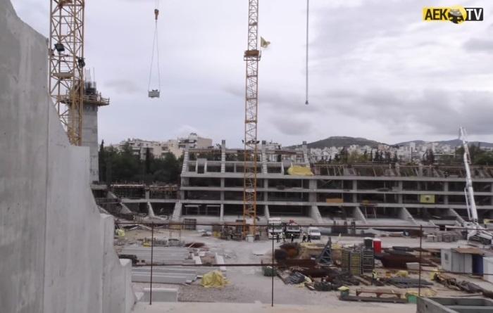 Το γήπεδο της ΑΕΚ παίρνει σάρκα και οστά! Νέο ΕΚΠΛΗΚΤΙΚΟ ΒΙΝΤΕΟ από τις εργασίες…