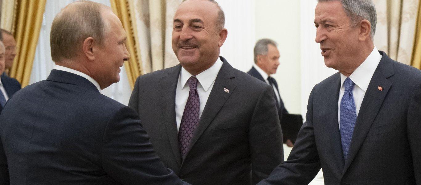 Ακάρ-Τσαβούσογλου στην Μόσχα – «Πιάνουν» τον Χ.Χάφταρ για να αναγνωρίσει το μνημόνιο αρπαγής της ελληνικής υφαλοκρηπίδας!