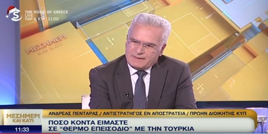 Αντιστράτηγος Ανδρέας Πενταράς – H Τουρκία γνωρίζει ότι σε μια πολεμική σύγκρουση δεν θα είναι η νικήτρια! (ΒΙΝΤΕΟ)