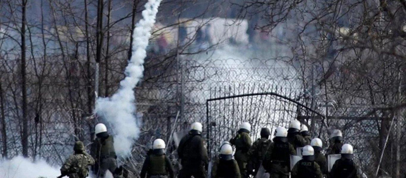 Νέα απόπειρα εισβολής σε ελληνικό έδαφος από εκατοντάδες αλλοδαπούς στον Έβρο: Χημικά πετούν οι Τούρκοι! (BINTEO)