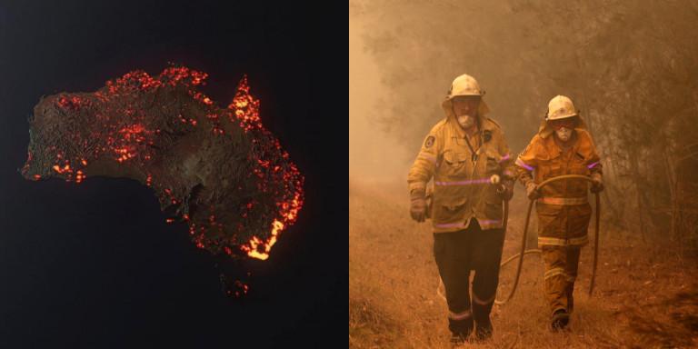 Η Αυστραλία φλέγεται: Συγκλονίζουν οι δορυφορικές φωτογραφίες -Ασύλληπτη καταστροφή! (ΦΩΤΟ)
