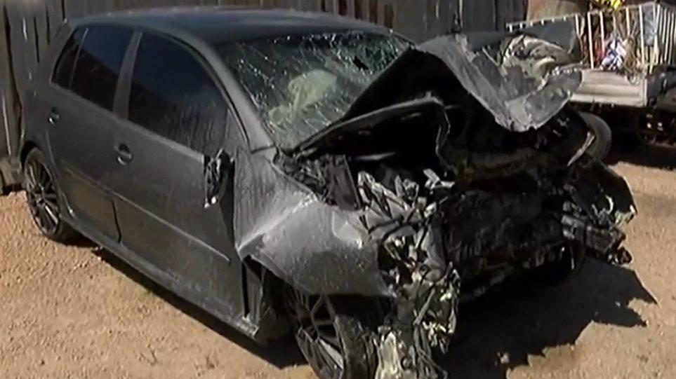 Τροχαίο Ζαχαριά: Εικόνες-σοκ από το διαλυμένο αυτοκίνητο – Θρύψαλα το παρμπρίζ, εξαφανισμένος ο κινητήρας! (BINTEO)