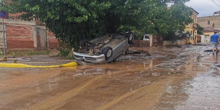 Εικόνες βιβλικής καταστροφής στα Ψαχνά Ευβοίας -Οι πλημμύρες διέλυσαν τα πάντα! (βιντεο)