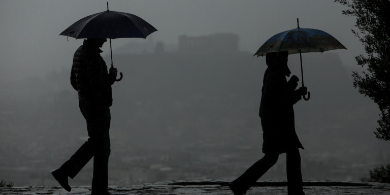 Καιρός: Επιδείνωση με έντονη βροχόπτωση για σήμερα και αύριο