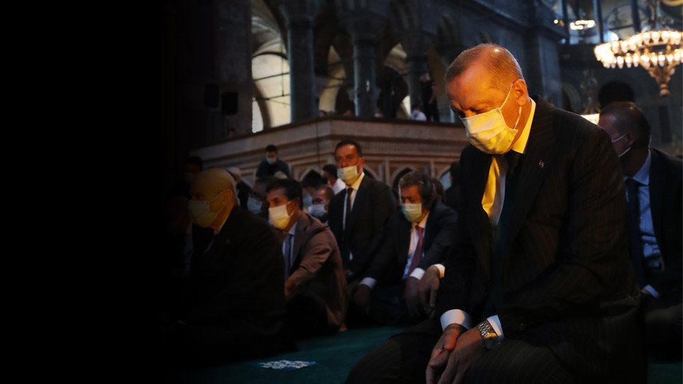 Αγιά Σοφιά: Ο Ερντογάν την ανοίγει όλο το 24ωρο – Παραλήρημα εθνικιστικού φανατισμού το μήνυμα της Αθήνας