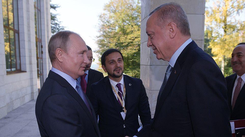 Πούτιν σε Ερντογάν: Θέλουμε μια ισχυρή λύση στο θέμα της Συρίας