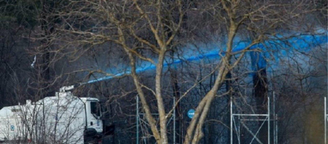 Ο «Αίας» εκτοξεύει μπλε μπογιά στα ελληνοτουρκικά σύνορα για να εντοπίζονται οι αλλοδαποί