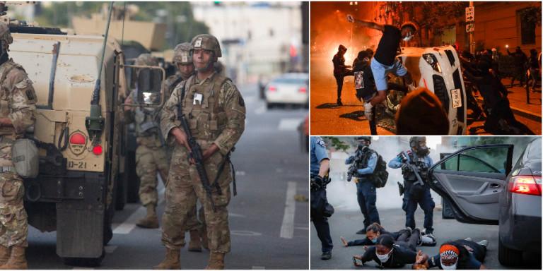 Δολοφονία Τζόρτζ Φλόιντ: Σκηνικό εμφυλίου πολέμου στις ΗΠΑ -Η Εθνοφρουρά στους δρόμους, απαγόρευση κυκλοφορίας! (BINTEO)