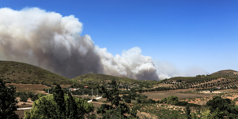 Φωτιά στην Κερατέα : Στο σημείο ισχυρές δυνάμεις της Πυροσβεστικής -Εκκενώθηκε οικισμός και Οικοτροφείο!