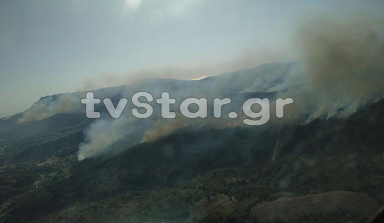 Εύβοια: Πύρινος εφιάλτης – Νέα φωτιά στο Τραχήλι!