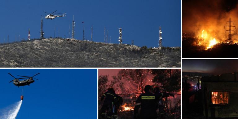 Φλόγες 20 μέτρων έκαιγαν τον Υμηττό: Δεν υπάρχει ενεργό μέτωπο πλέον -Ερευνες για τα αίτια της φωτιάς!