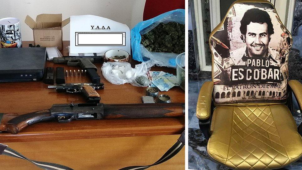 Δυτική Αττική: Έφοδος της αστυνομίας – Ο… θρόνος του Εσκομπάρ και οι συλλήψεις για πυροβολισμούς και ληστείες!(φωτο)