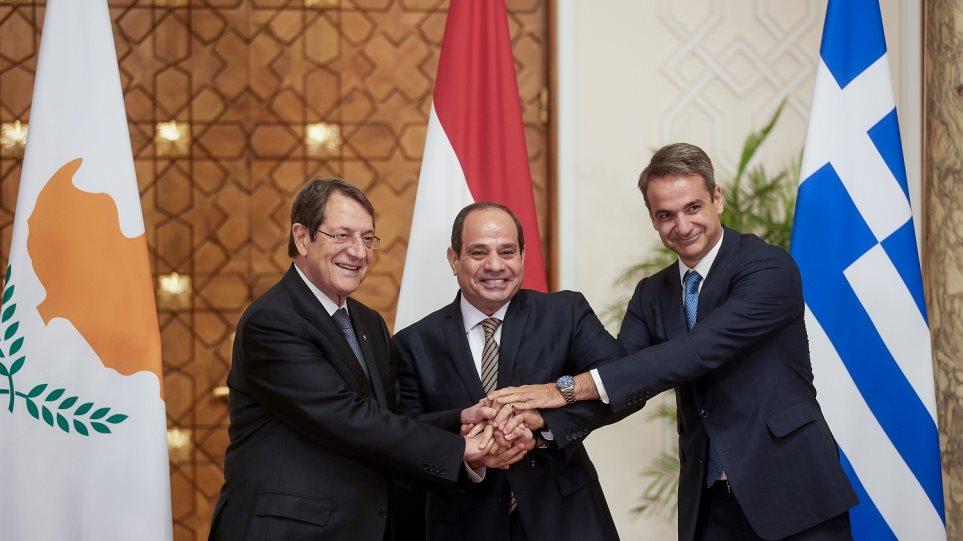 Τριμερής Ελλάδας-Κύπρου-Αιγύπτου: Τα μηνύματα προς την Άγκυρα – Δείτε τις δηλώσεις των τριών ηγετών! (ΒΙΝΤΕΟ)