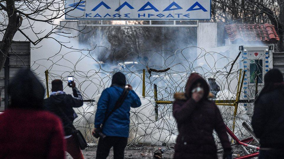 Νέα επεισόδια στον Έβρο: Χημικά και πέτρες -Μετανάστες προσπαθούν να περάσουν τα σύνορα (BINTEO)