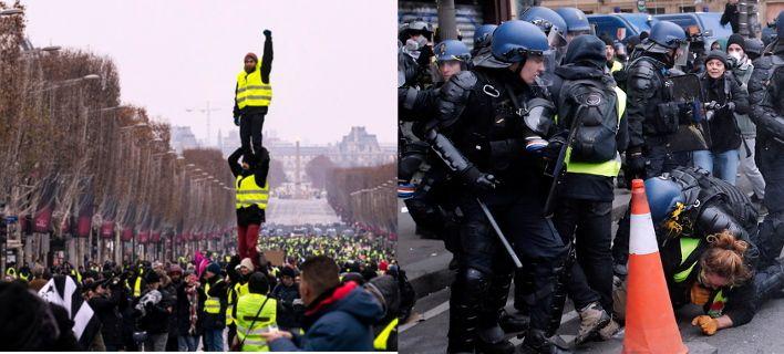 Τα κίτρινα γιλέκα ξανά στους δρόμους του Παρισιού-Ξύλο και δακρυγόνα