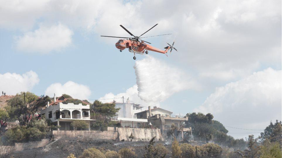 Φωτιά στο Λαγονήσι: Ανάμεσα στα σπίτια οι φλόγες – Εντολή εκκένωσης (ΒΙΝΤΕΟ)