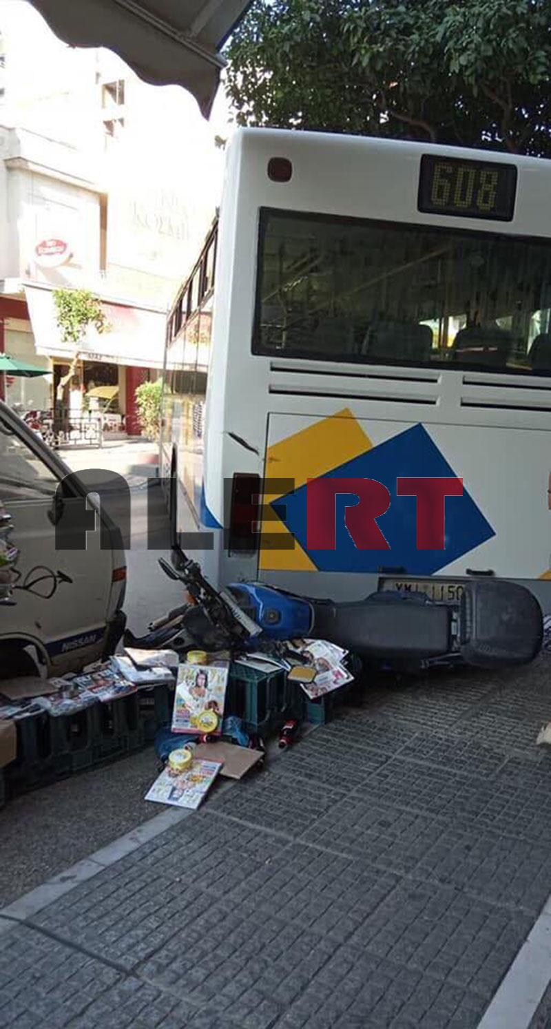 Τι λέει η ιδιοκτήτρια περιπτέρου στου Ζωγράφου για την «τρελή» πορεία του λεωφορείου! Πώς σώθηκε από θαύμα! (φωτο ALERT)
