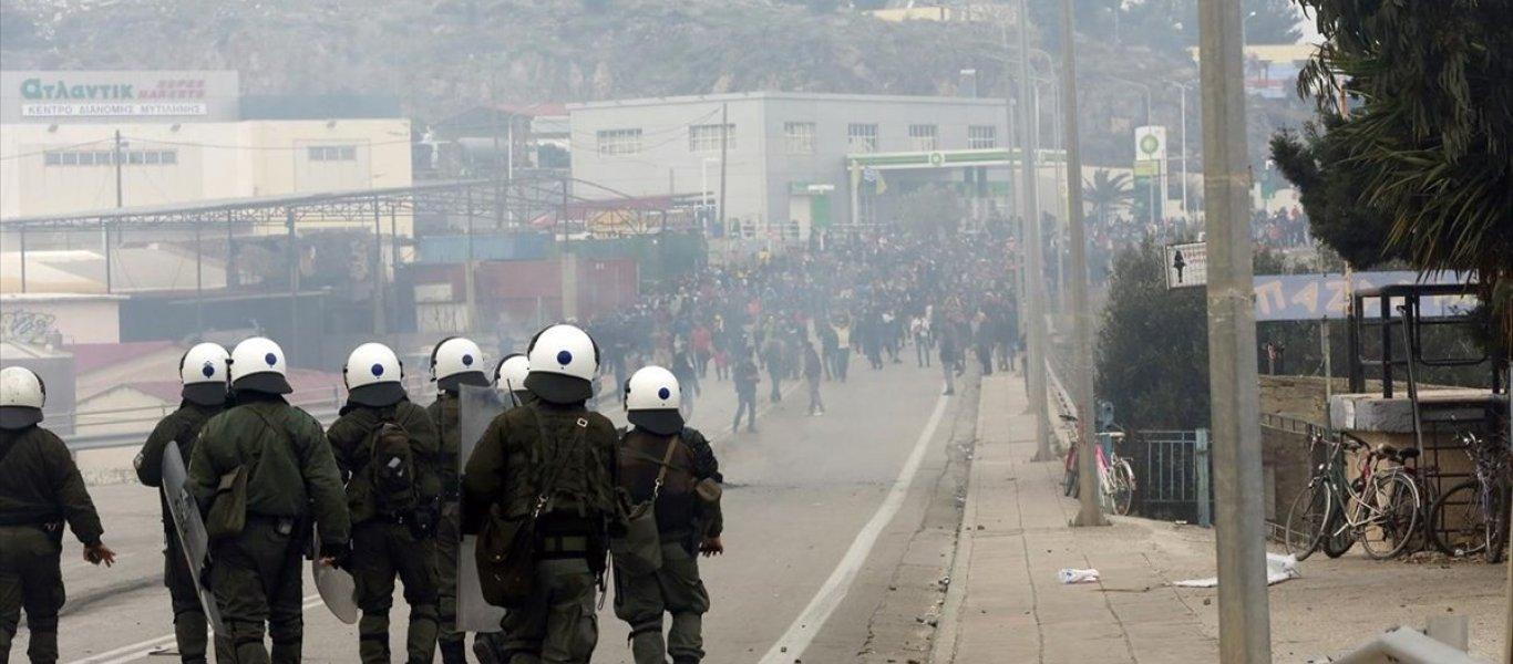 Σφοδρή επίθεση των δυνάμεων ασφαλείας διέλυσε τους Αφγανούς – Απέτρεψε τα χειρότερα στην πόλη της Μυτιλήνης! (ΒΙΝΤΕΟ)
