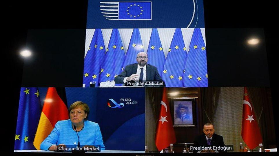 Ερντογάν σε Μέρκελ και Μισέλ: Από την Ελλάδα εξαρτάται η επανέναρξη του διαλόγου!