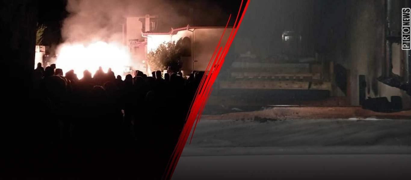 Εξέγερση των κατοίκων της Πέλλας: Έβαλαν φωτιά στο ξενοδοχείο που θα «φιλοξενούσε» παράνομους μετανάστες! (φωτό)