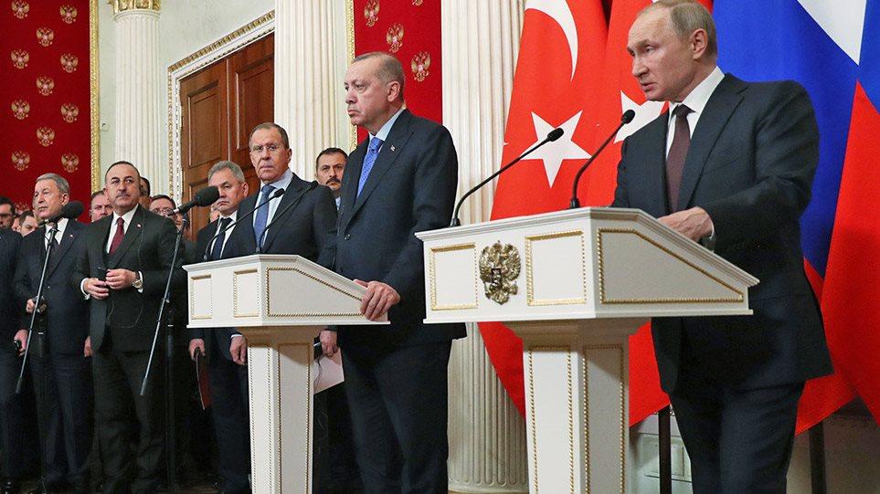 Συρία: Πούτιν- Ερντογάν συμφώνησαν για εκεχειρία στο Ιντλίμπ
