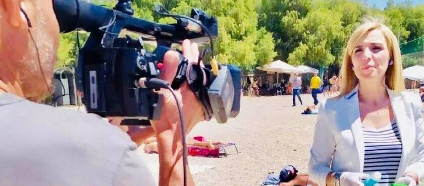 Την πήραν με τις… πέτρες: Λιθοβόλησαν δημοσιογράφο του Alpha που έκανε ρεπορτάζ στις παραλίες! (ΦΩΤΟ)