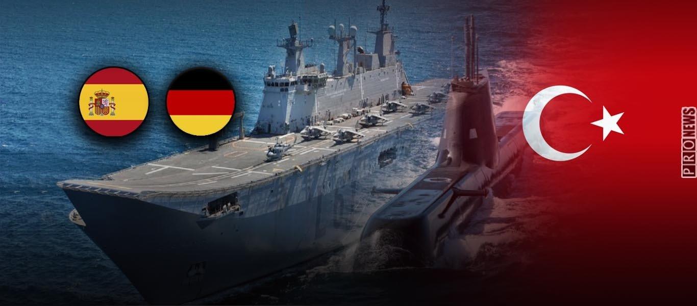 «Όχι» από Γερμανία & Ισπανία στη ματαίωση παράδοσης σε Τουρκία των 6 υποβρυχίων Type 214TN & του αεροπλανοφόρου Anadolu