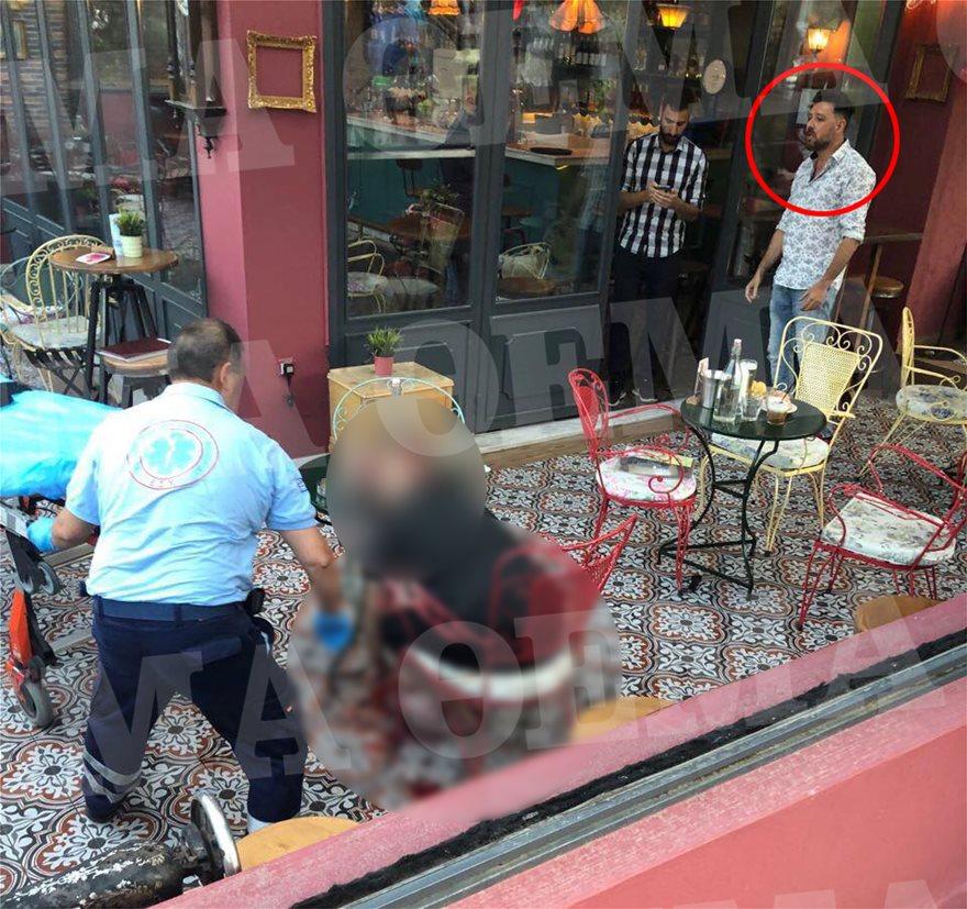 Δολοφονία στο Περιστέρι: Ο Μάνος Παπαγιάννης στην καφετέριά του, λίγο μετά το έγκλημα! Σε σοκ και η σύζυγός του Αγγελική Δαλιάνη! (φωτο)