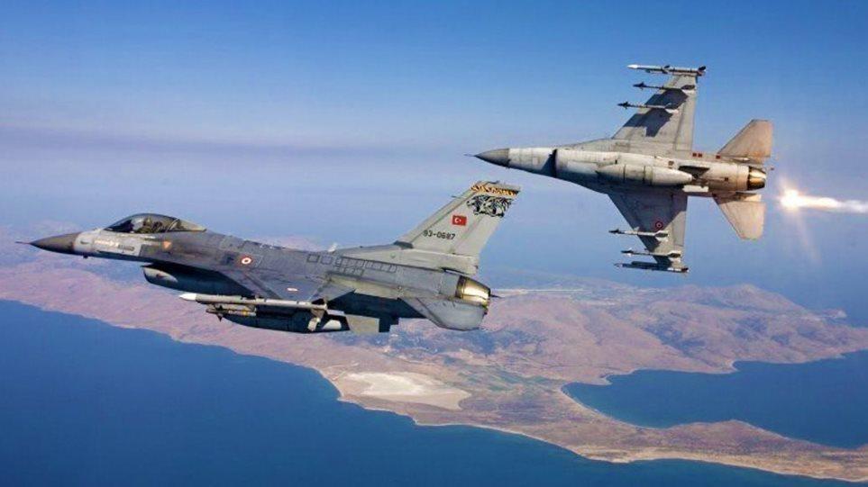 Υπερπτήσεις κατά κύματα από τουρκικά F-16: Πέταξαν 10 φορές πάνω από νησιά, ακόμα και από τη Χίο!