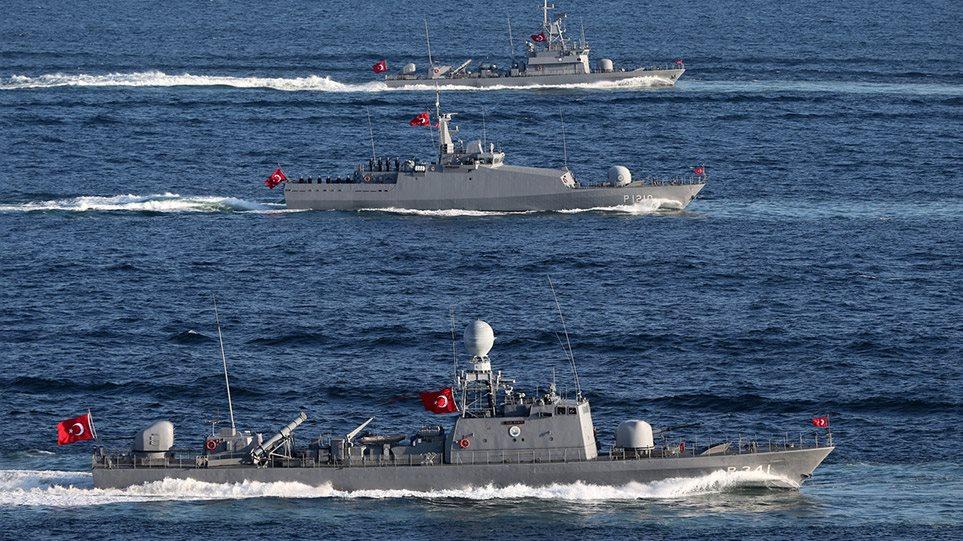 Ενδείξεις αποκλιμάκωσης στο Αιγαίο – Αποχωρούν μερικά τουρκικά πλοία! (φωτο)