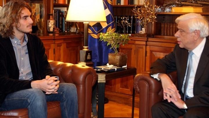 Στο Προεδρικό Μέγαρο ο Τσιτσιπάς: «Θέλω να πάω στους Ολυμπιακούς Αγώνες του Τόκιο με την Ελλάδα»
