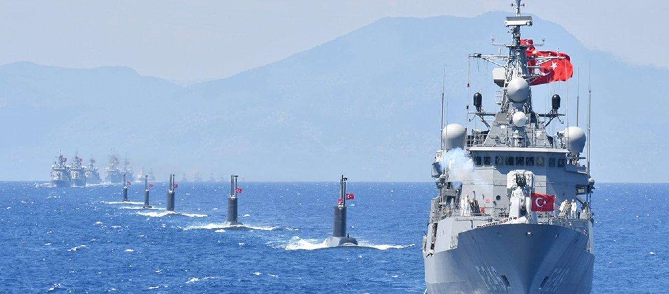 Το τουρκικό Ναυτικό εκπέμπει μήνυμα κυριαρχίας σε Αιγαίο & Α.Μεσόγειο: «Μόνο από εμάς θα ζητάτε βοήθεια»