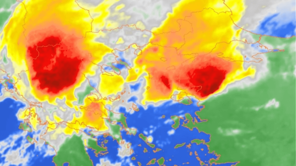 Χαλκιδική: ΔΕΙΤΕ τη φονική καταιγίδα από τις εικόνες δορυφόρου! (vid)