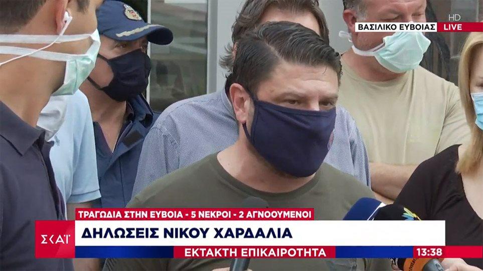 Χαρδαλιάς από Εύβοια: Έχουμε 5 νεκρούς και 2 αγνοούμενους από τις πλημμύρες (βιντεο)