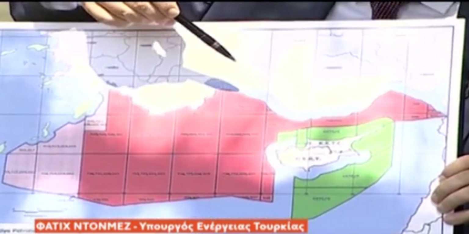 """Νέο τουρκικό σόου με χάρτες! Ντονμέζ: Κάνουμε γεωτρήσεις στα όρια της """"Γαλάζιας πατρίδας"""""""